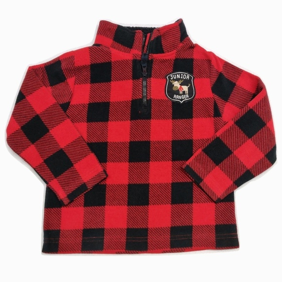 Red & Black Buffalo Plaid Fleece